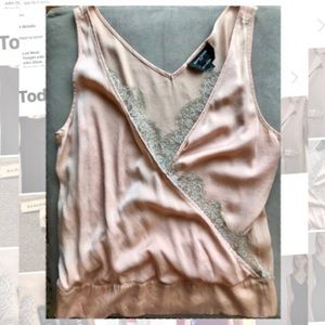 Gorgeous Silk and Lace Tank